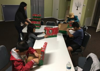 MCCMAC Picture 11-16-18 Operation Christmas Child Shoe Boxes